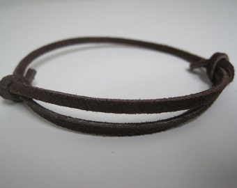 Slender Suede Leather Wrap Bracelet Cuff