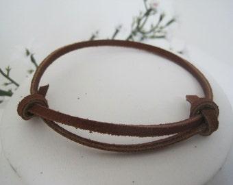 SALE!! Brown Leather/Suede Wrap Bracelet Cuff