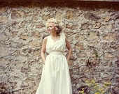 Silk Wedding Dress - White Evening Primrose Gown - Made to Order