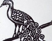 Peacock - Linocut Print