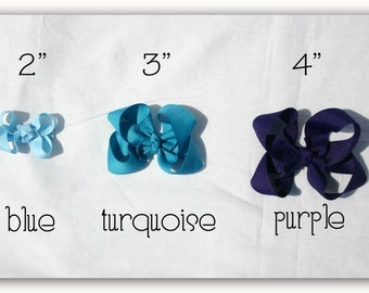 Girls Boutique Hairbow 3 inch Bow You Choose Color