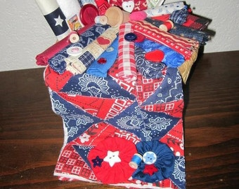 Texas Quilter's Decorative Basket