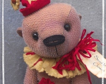"Artist Bear Immediate Download PDF Pattern to Make 12"" Well Loved Teddy Bear CLANCY By Kim Endlich"