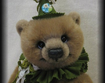 "Artist Bear Immediate Download PDF Pattern To Make a 14"" Bear Like Eben By Kim Endlich"