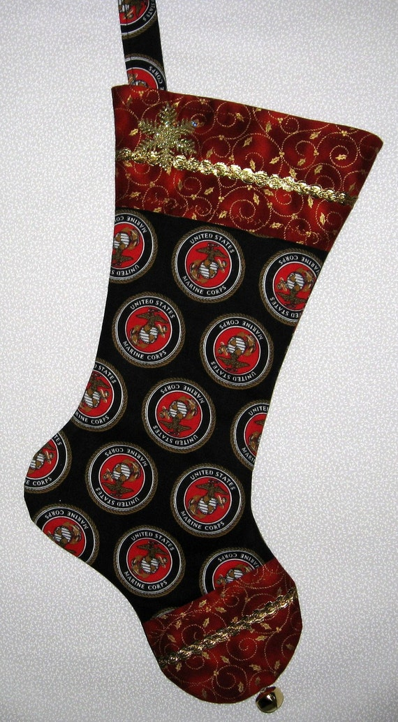 US Marine Corp Gift USMC Christmas Stocking by ...
