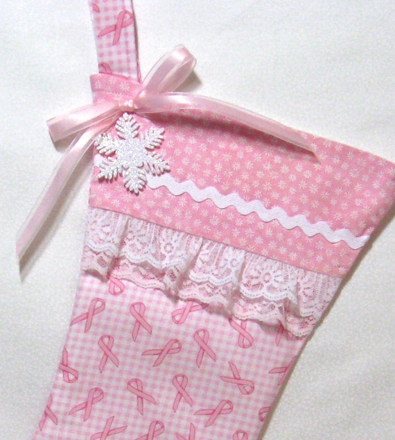 Pink Breast Cancer Christmas Stocking on Sale and Free Shipping
