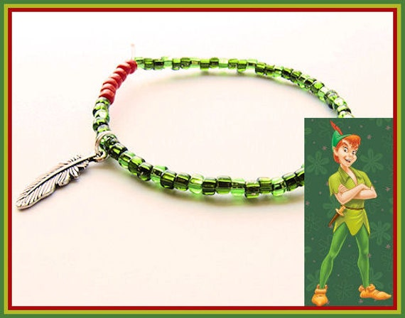 Peter Pan Feather Charm Bracelet Off to Neverland