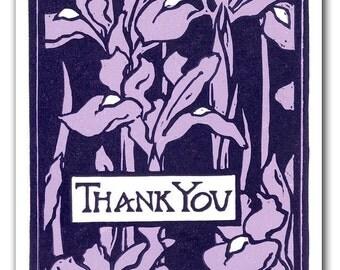 Handmade Block Print Thank You Card