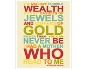 The Reading Mother quote 8x10 inch print by Finny and Zook