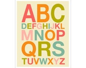 Children's Wall Art / Nursery Decor ABCs Helvetica 11x14 inch poster print by Finny and Zook
