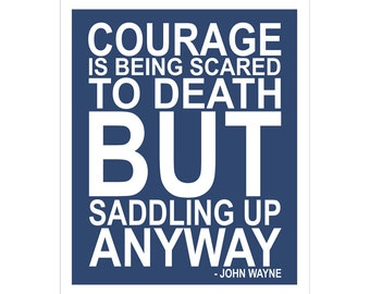Children's Wall Art / Nursery Decor Courage Quote by John Wayne... 8x10 inch print by Finny and Zook