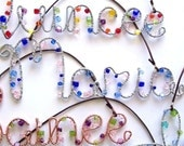 Wire Name Sign Suncatcher . Custom 5 Letter NAME or WORD . Personalized Name Sign