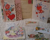 8 Victorian Ephemera Calling Cards and Greeting Cards