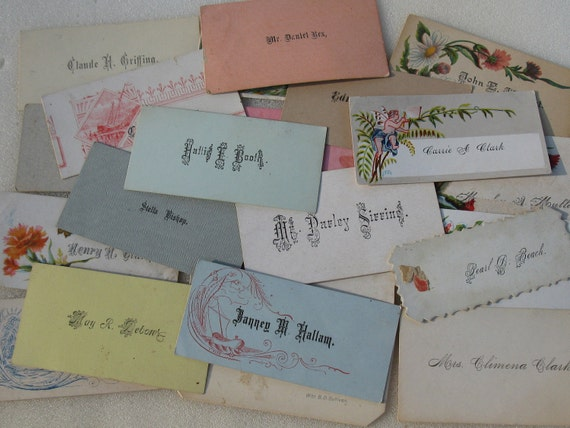 21 Victorian CALLING Cards for Scrapbooks Altered Collage Journaling