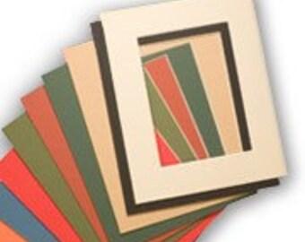 Lot of 5 Pre-Cut Acid-Free Matboards Size 16 x20 - MIXED COLORS