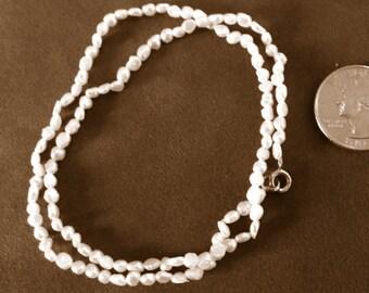 SALE SALE SALE - Genuine Fresh Water Pearl Necklace and Bracelet Set