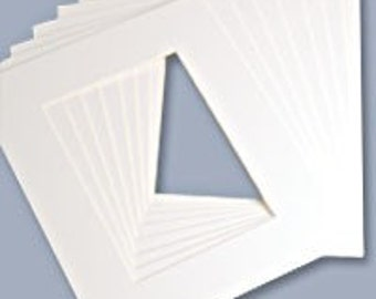 """Lot of 15 Acid-Free Matboards Size 5 x 7"""" for ACEO - All Bright WHITE"""
