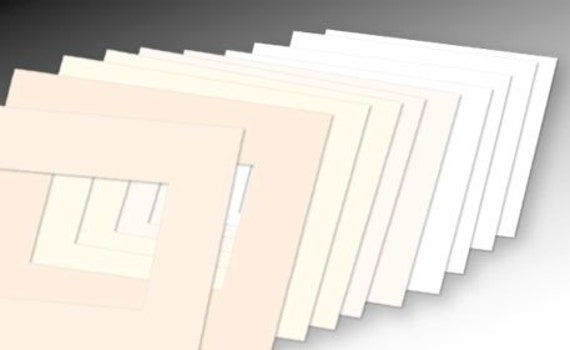 Lot of 10 Pre-Cut Acid-Free Matboards Size 8 x 10 - Assorted WHITE