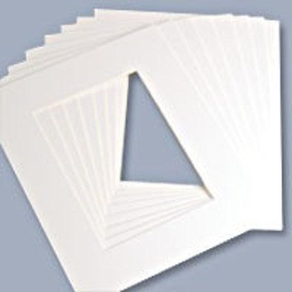 Lot of 10 Pre-Cut Acid-Free Matboards Size 8 x 10 - BRIGHT WHITE