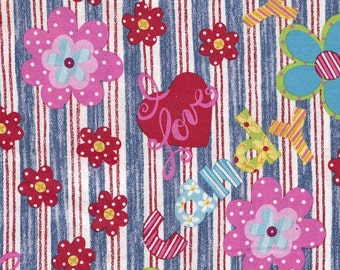 I Love Candy Cotton Print Fabric