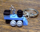 Lt Blue Mini Train Engine Key chain