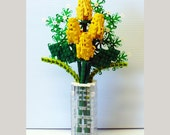 Custom Bouquet of Yellow Rosebuds and Baby's Breath