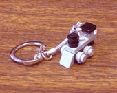 Grey Mini Train Engine Key chain