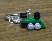 Green Mini Train Engine Key chain