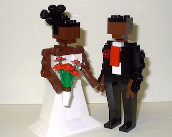 Custom Bride and Groom Wedding Cake Topper