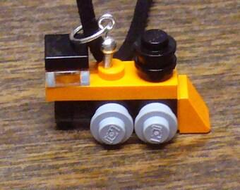 Orange Mini Train Engine Necklace
