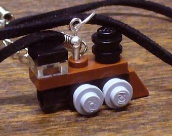 Brown Mini Train Engine Necklace