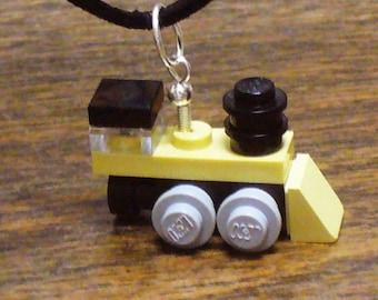 Tan Mini Train Engine Necklace