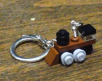 Brown Mini Train Engine Key chain