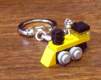 Yellow Mini Train Engin Keychain
