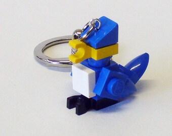 Mini Blue Jay Bird Key chain