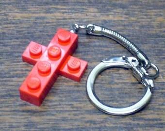 Mini Red Cross Key chain