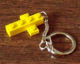 Mini Yellow Cross Keychain