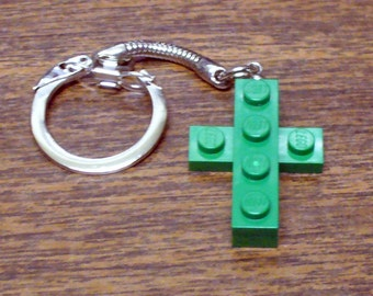 Mini Green Cross Key chain