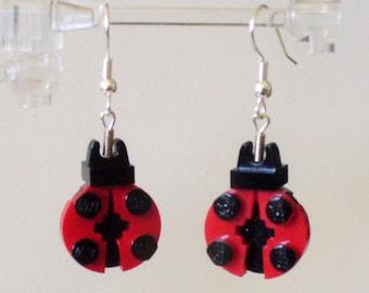 Mini Ladybug Dangle Earrings