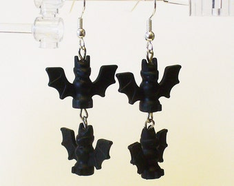 Mini Bat Dangle Earrings