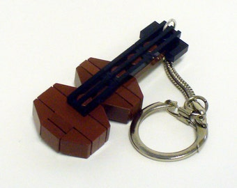 Mini Brown Guitar / Violin Key chain