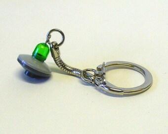 Mini Green UFO Keychain