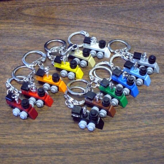 Lot of 12 Mini LEGO Train Engine Key chains