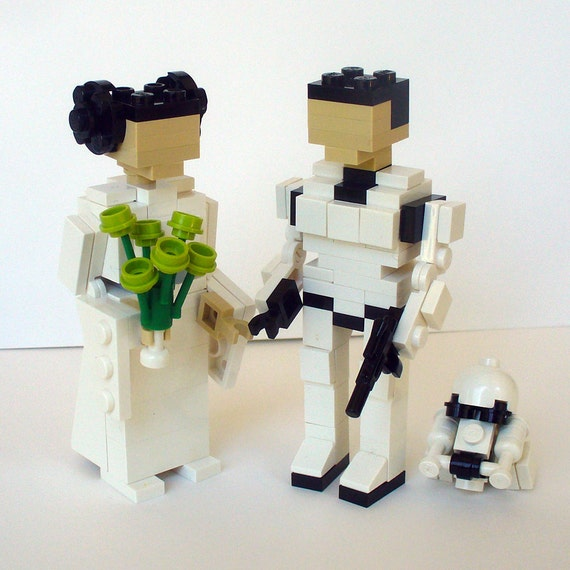 lego cake topper wedding