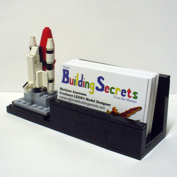 Custom Mini Space Shuttle Business Card Holder