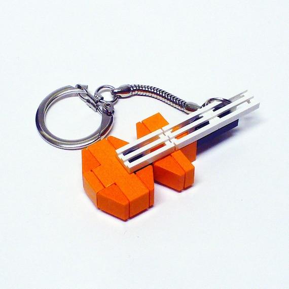 Mini LEGO Orange Electric Guitar