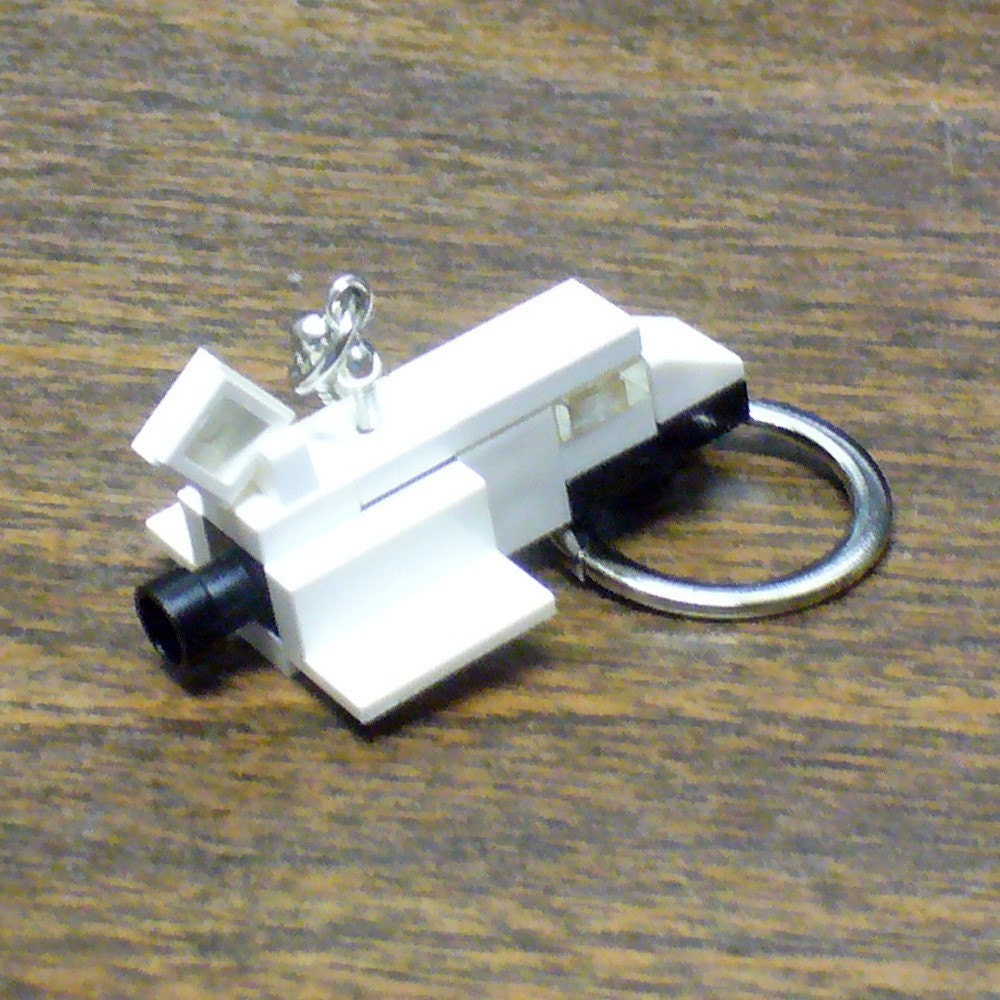 mini lego space shuttle key chain. Black Bedroom Furniture Sets. Home Design Ideas