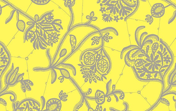 Reserved listing for feanna otta Amy Butler Fabric  Souvenir in Lemon  1 Yard