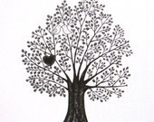 Unique Wedding Gift for Couple Love Illustration Print Kissing Birds Black & White Deocr Wall Art Woodland Home Decor 5x7 Anniversary Gift