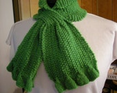 Ruffled Scarf Knit PDF pattern